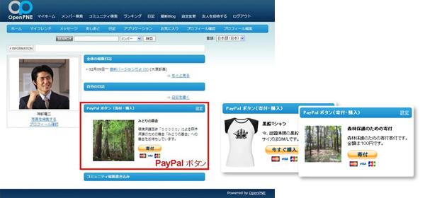 PayPalボタン概略図